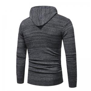 2018 New Foreign Trade Men Fashion Spell Hooded Long-Sleeved Sweater -