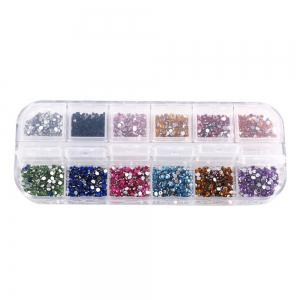 2mm 12 Colors Nail Acrylic Paste Flat Bottom -