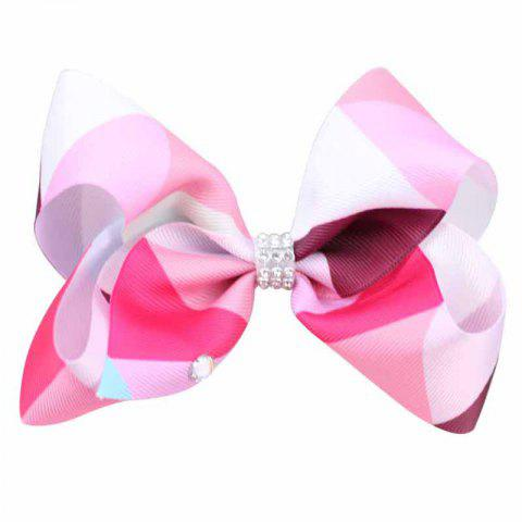 Unique Rainbow Gradient Color Rib with Girls Bow Hairpin Hot Drilling Children Hair Accessories