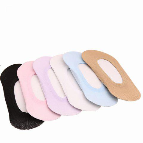Fashion Lady Boomer Skid Stealth Sock Five Pairs of Colors