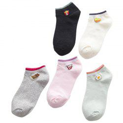Spring and Summer New Pure Cotton Stealth Stealth Socks Five Double Color Mix and Match -