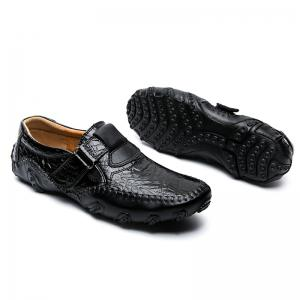 ZEACAVA Crocodile Large Size Men's Casual Business Peas Shoes -