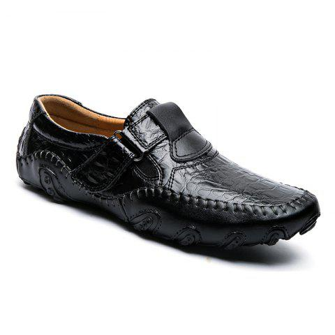 Discount ZEACAVA Crocodile Large Size Men's Casual Business Peas Shoes