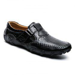 ZEACAVA Crocodile grande taille Casual Business Peas Chaussures pour hommes -