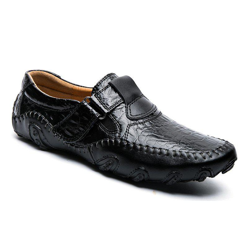 Latest ZEACAVA Crocodile Large Size Men's Casual Business Peas Shoes