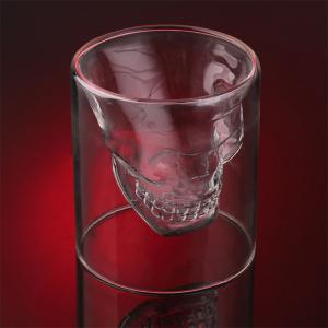 Creative Skull Shooting Glass Beer Cup Double Transparent Drink -