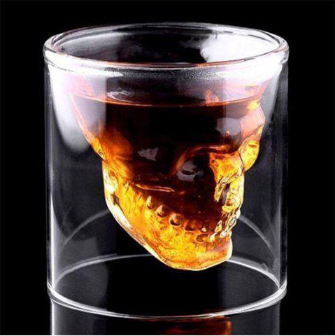 Cheap Creative Skull Shooting Glass Beer Cup Double Transparent Drink