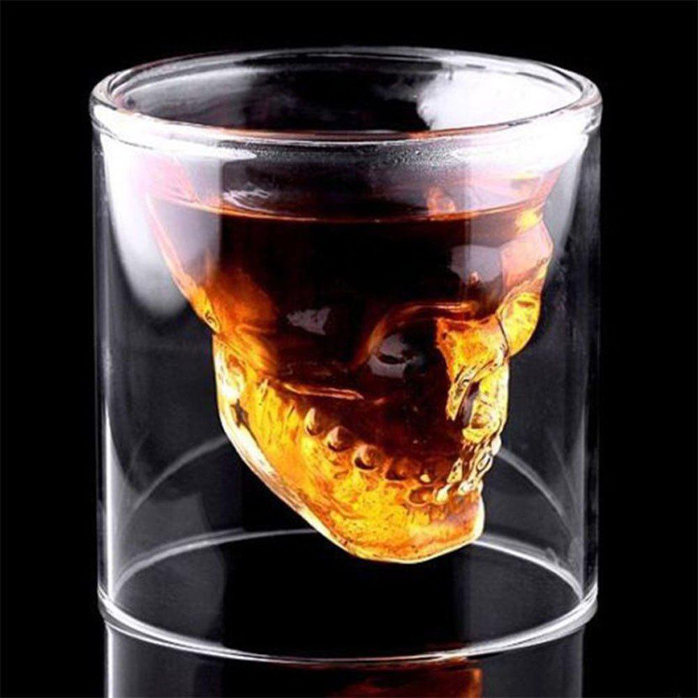 Fashion Creative Skull Shooting Glass Beer Cup Double Transparent Drink
