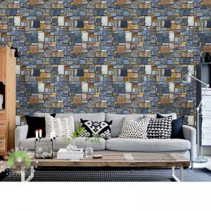 ... DSU Brick Wall Decal Stickers With Nice And Beautiful Head Of Creative  Personality Decorative Wallpaper ...