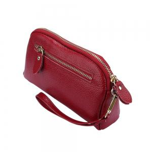 Women Fashion Genuine  Leather Clutch Small Hangbag for Ladies -