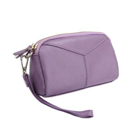 Trendy Women Fashion Genuine  Leather Clutch Small Hangbag for Ladies