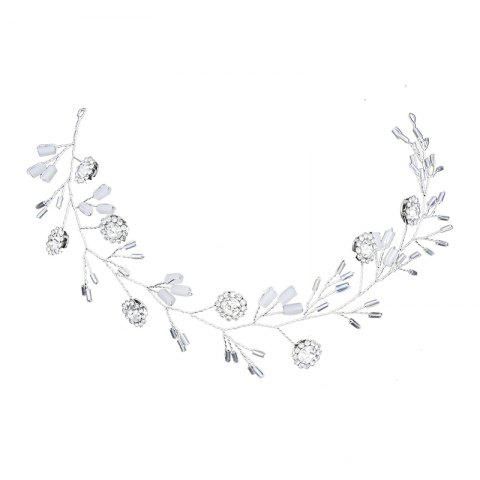 Cheap Silver Round Crystal Headband Hair Jewelry for Women Bride
