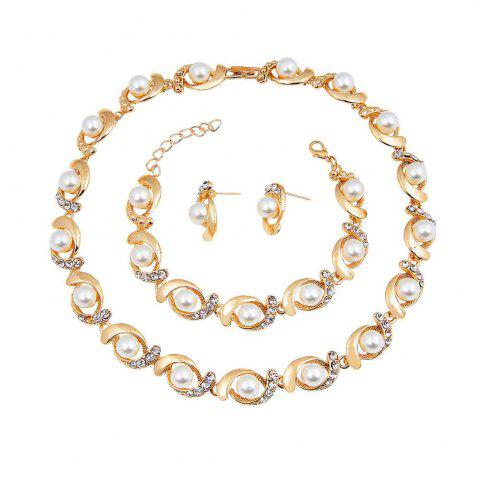 Outfits Elegant Diamond Necklace Earrings with Earrings Set
