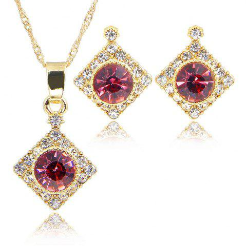 Fashion Female Rhinestone Diamond Pendant Earrings Wedding Accessories Suit