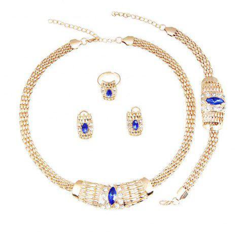 Cheap New Gold-plated Chain  with Crystal Necklace Earrings
