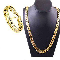 Fashion Luxury Exaggerated Men Women 18K Necklace Exquisite Gold Bracelets -