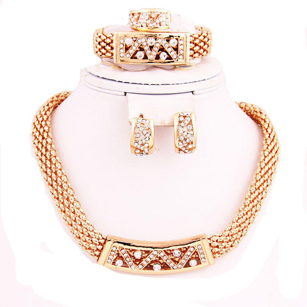 Buy Gold-plated Fashion Alloy Necklace Earrings Jewelry Set