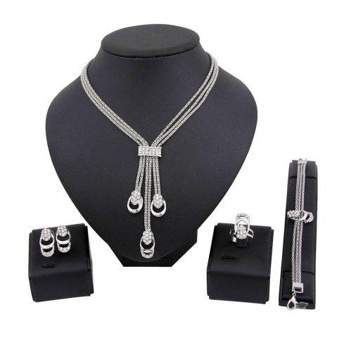Outfit Gold-plated Necklace Earrings with Four Fashion Jewelry Sets