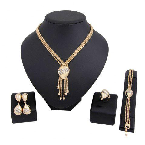 Shops Gold-plated Necklace Earrings Bracelet Ring Style Jewelry Set