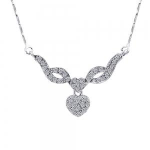 Water Drill Small Pendentif Boucles d'oreilles Fashion Necklace Set -