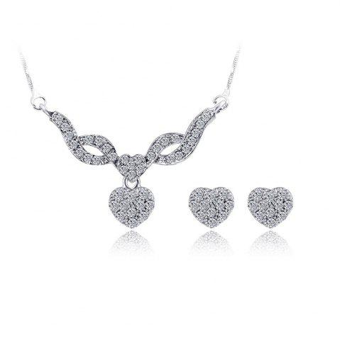 Water Drill Small Pendentif Boucles d'oreilles Fashion Necklace Set
