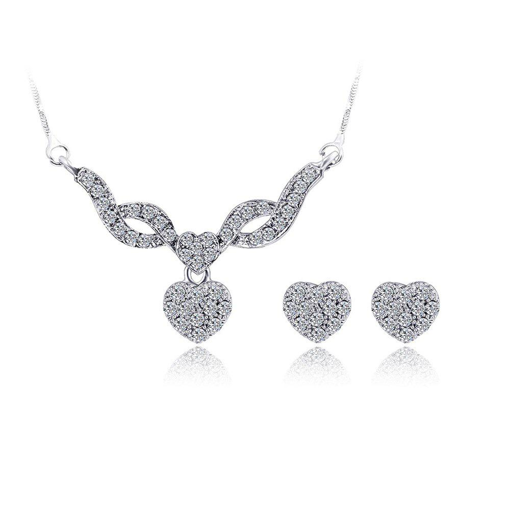 Shop Water Drill Small Pendant Earrings Fashion Necklace Set