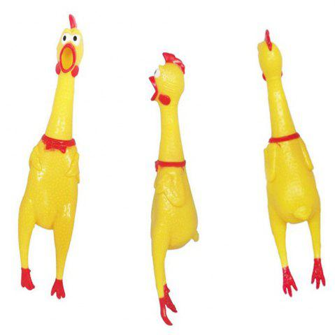 Unique 17CM Screaming Chicken Pet Products Sound Decompression Creative Tricky Toys Jumbo Squishy 1PC