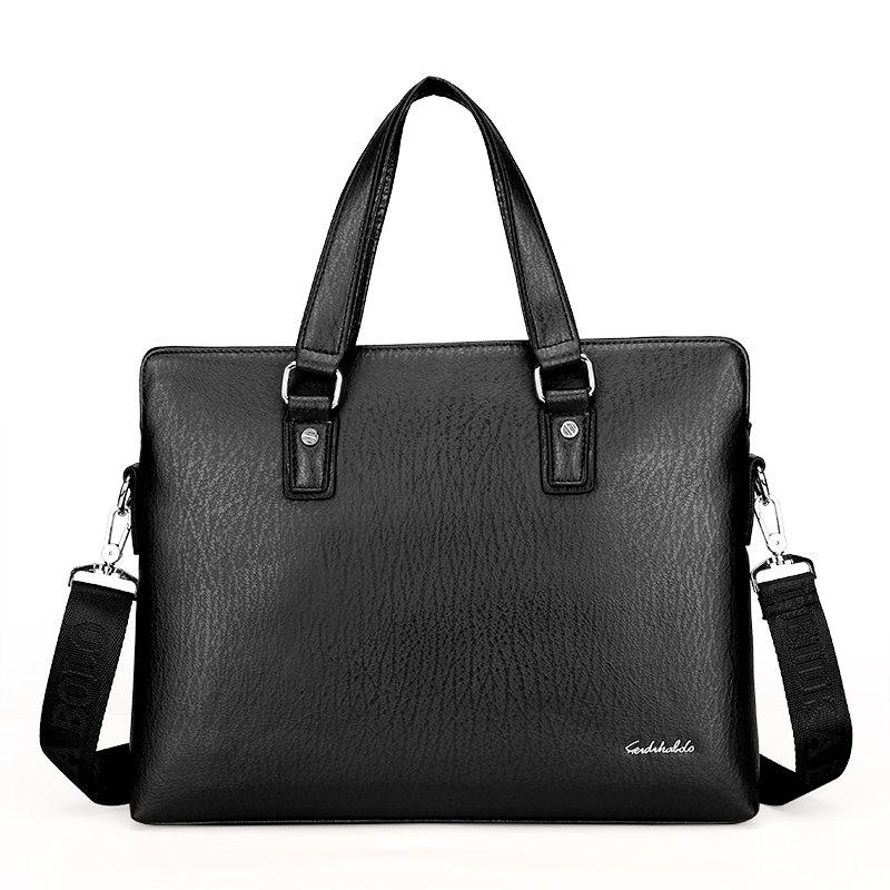 Hot New Casual Fashion Hand-shoulder Diagonal Cross-section Briefcase Male