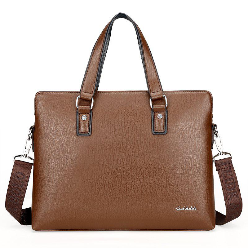 Shop New Casual Fashion Hand-shoulder Diagonal Cross-section Briefcase Male