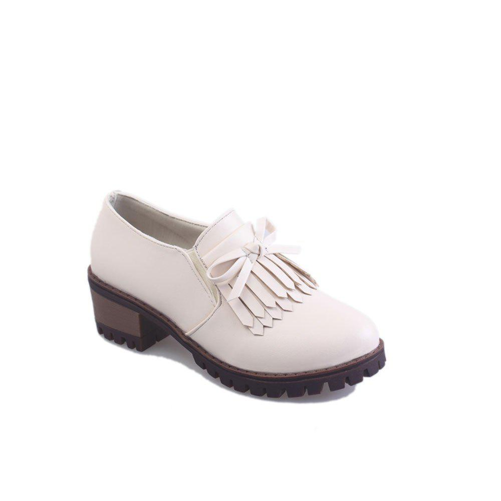 New Spring Slope with Casual Comfort Lace Trendy College Small Shoes