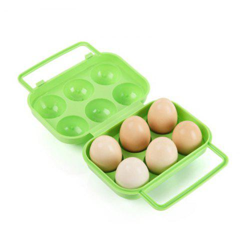 Trendy Outdoor Picnic Portable Plastic 6 Case Egg Box