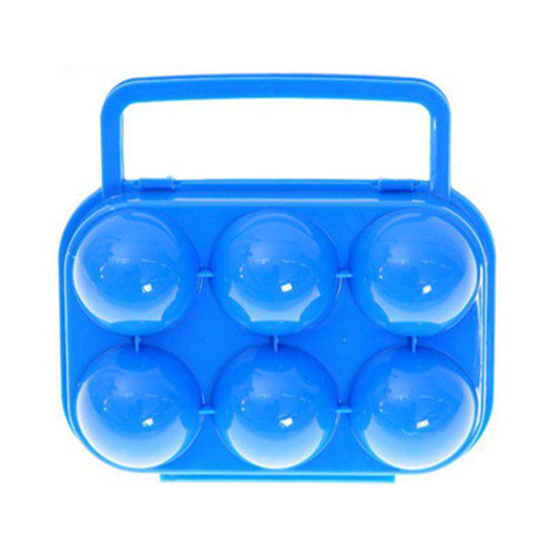 Unique Outdoor Picnic Portable Plastic 6 Case Egg Box