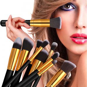 11PCS Black Gold High Quality Professional Makeup Brushes Set -