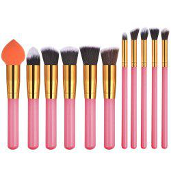 11PCS Pink Gold High Quality Professional Makeup Brushes Set -
