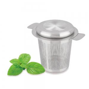 Tea Strainer Stainless Steel Water Filter with Double Handles for Hanging on Teapots Mugs -