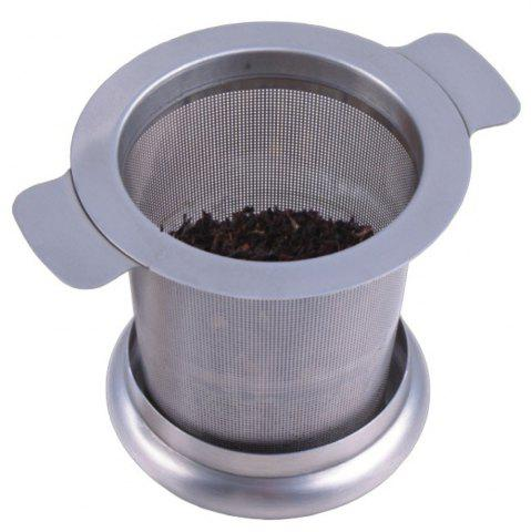 Chic Tea Strainer Stainless Steel Water Filter with Double Handles for Hanging on Teapots Mugs