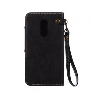 Retro Rose PU Leather Magnetic Closure Flip Wallet Protective Case with Lanyard for Xiaomi Redmi Note 4 / 4X -