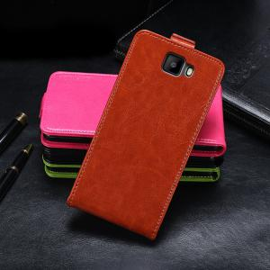 Up and Down Crazy Horse Stripes Pu Leather Case for Elephone S8 -