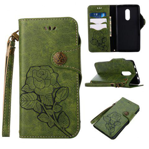 Discount Retro Rose PU Leather Magnetic Closure Flip Wallet Protective Case with Lanyard for Xiaomi Redmi Note 4 / 4X