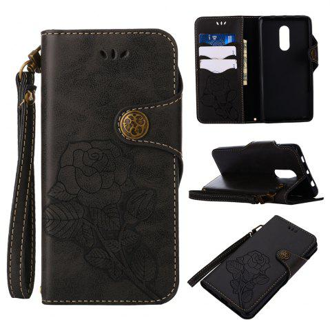 Trendy Retro Rose PU Leather Magnetic Closure Flip Wallet Protective Case with Lanyard for Xiaomi Redmi Note 4 / 4X