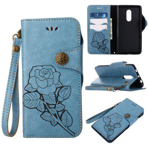 Fancy Retro Rose PU Leather Magnetic Closure Flip Wallet Protective Case with Lanyard for Xiaomi Redmi Note 4 / 4X