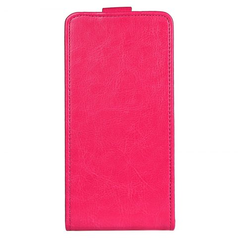 Fancy Up and Down Crazy Horse Stripes Pu Leather Case for Homtom S8