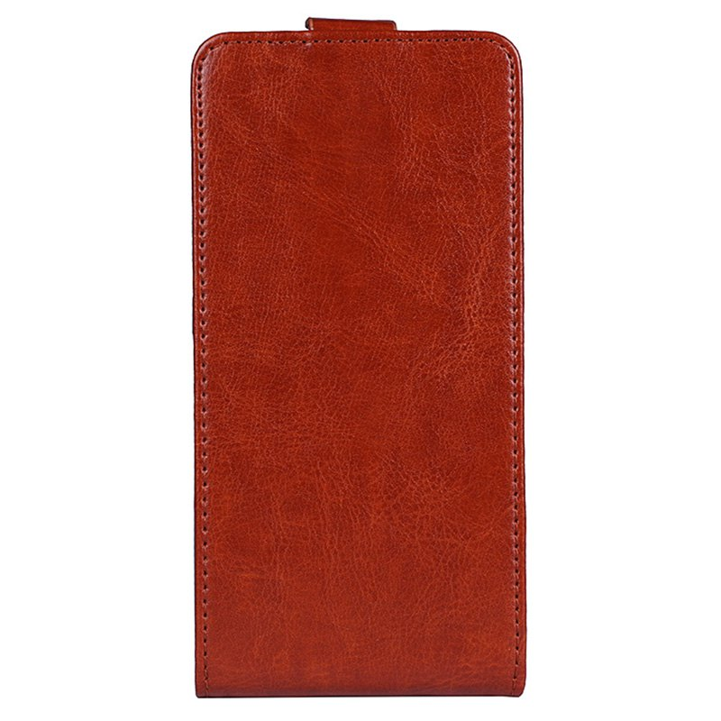 Trendy Up and Down Crazy Horse Stripes Pu Leather Case for Elephone S8