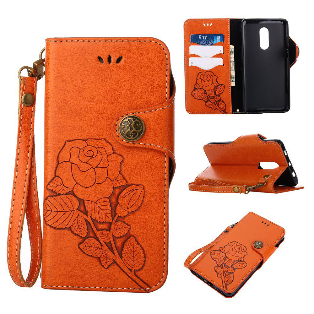 Shops Retro Rose PU Leather Magnetic Closure Flip Wallet Protective Case with Lanyard for Xiaomi Redmi Note 4 / 4X