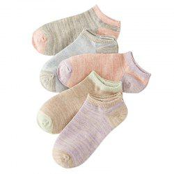 Spring and Summer on  New Cotton Socks with Double Color Mix Five -