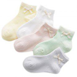Amoi MsBoat  Deodorant Short Thin Jacquard Socks and Five Pairs of Different Color -