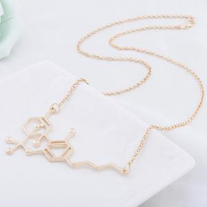 Women's Sweater Chain Solid Color Creative Fashionable Necklace Accessory -