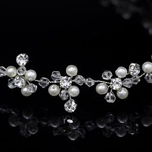 Exqusite Bead Crystal Headband Hair Jewelry for Women Bride -