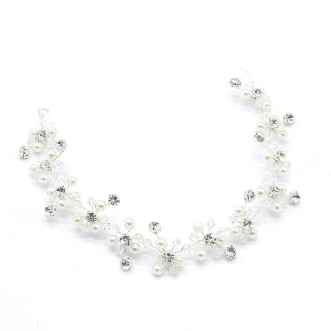Outfits Exqusite Bead Crystal Headband Hair Jewelry for Women Bride