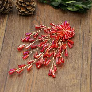 Red Crystal Hairpin Hair Pin Jewelry for Wedding Bride -